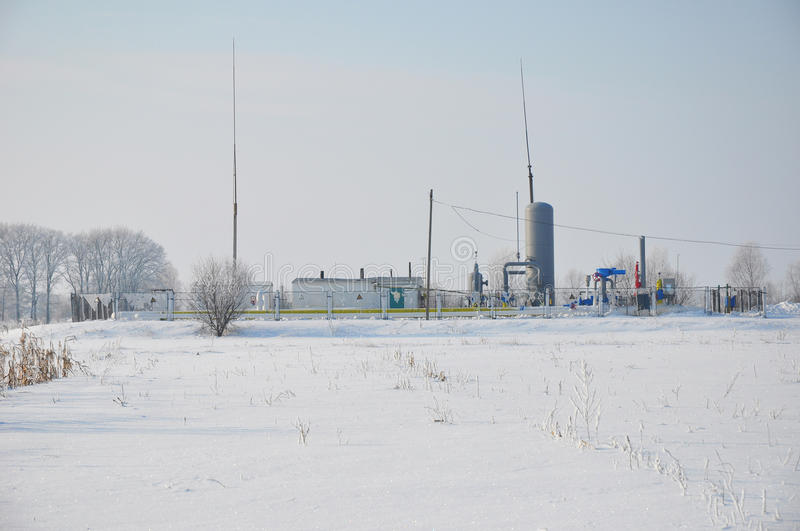 Small natural gas plant in Siberia. Low natural gas prices and growth in natural gas power generation infrastructure. Are the main drivers in the consumption stock photos