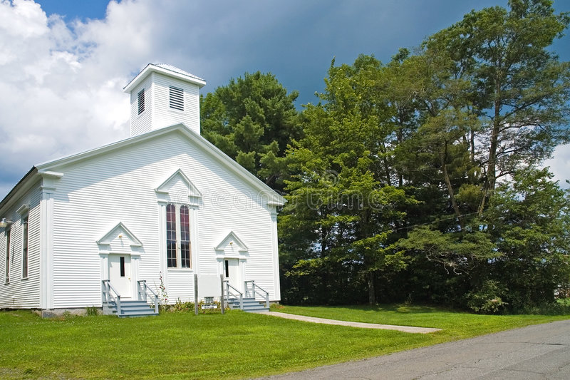 Small New England country church royalty free stock photography
