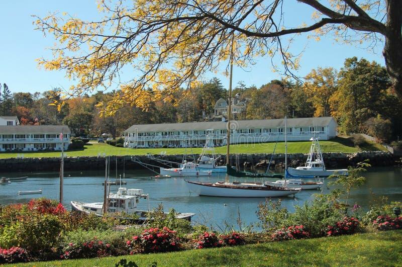 Small New England Harbor stock photography