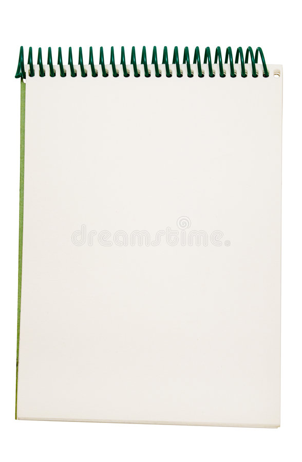 Small Notepad w/ Path royalty free stock photography