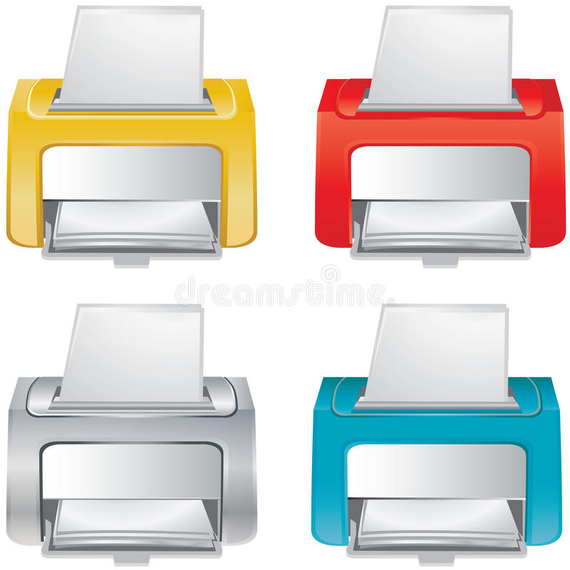 Small office device stock illustration