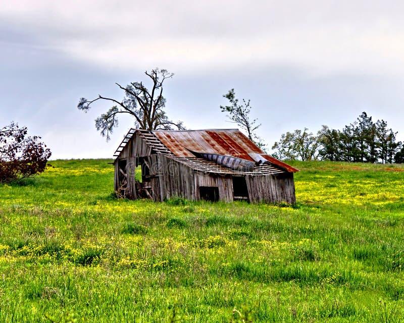 Small Old Barn stock photo