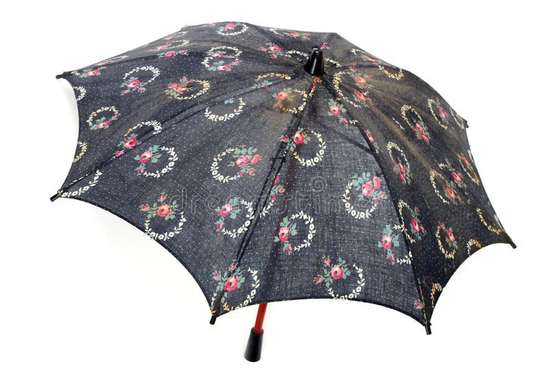 Small old umbrella stock photography