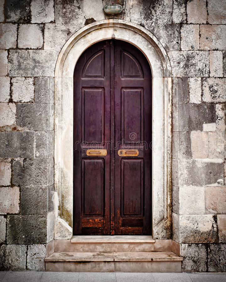 Free Small Old Wooden Church Door Royalty Free Stock Photo - 41328825