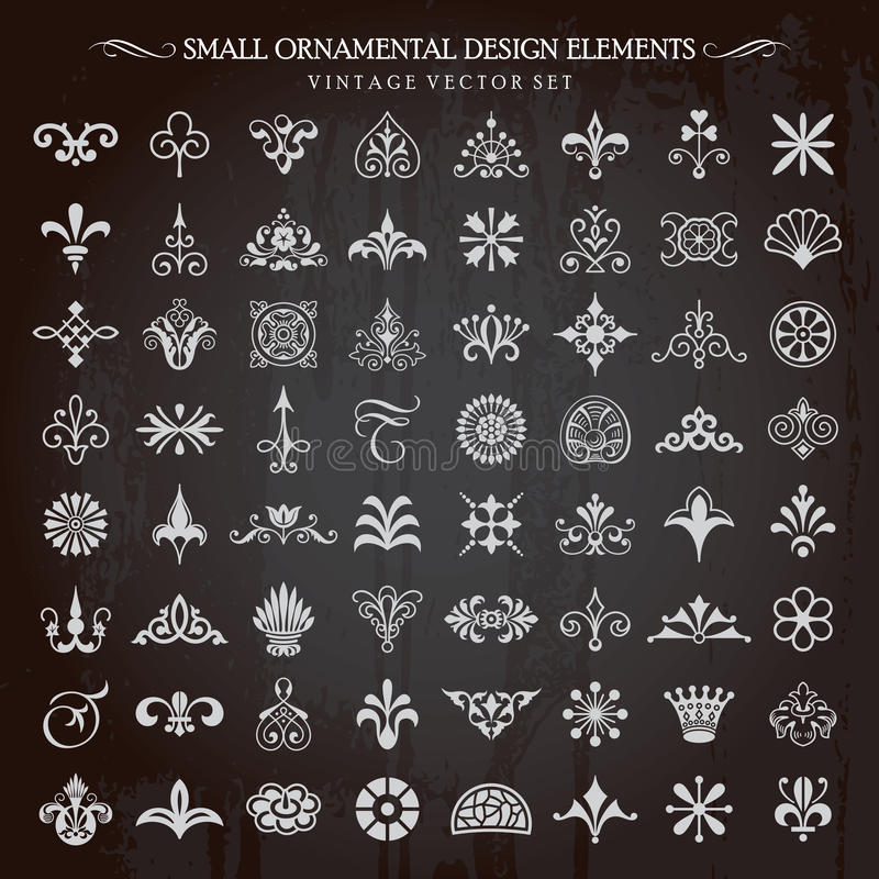 Small Ornamental Design Elements Vector stock illustration