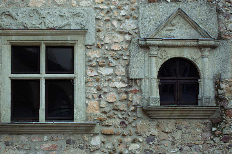 Small ornate windows stock photos