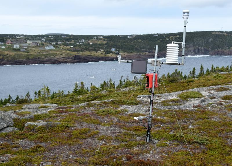 Outdoor Weather Station On The Hill Stock Photo - Image of ...