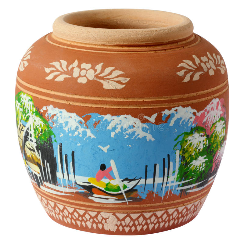 Free Small Painted Clay Pottery Royalty Free Stock Images - 26687189