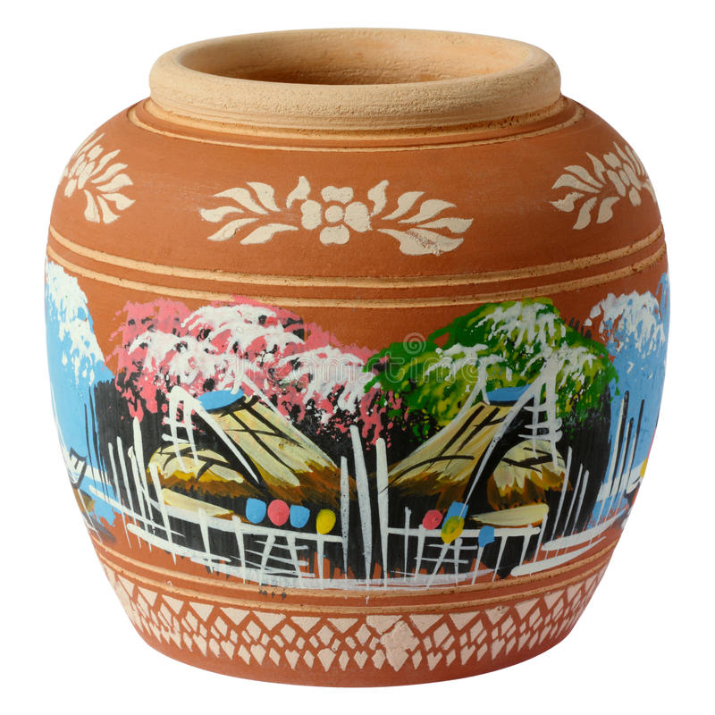 Free Small Painted Clay Pottery Royalty Free Stock Images - 26808829