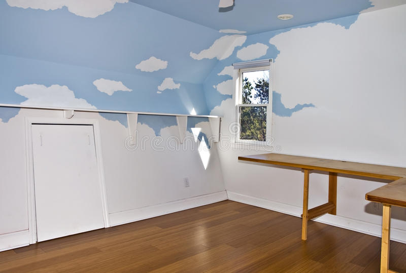 Small Painted Room stock photo