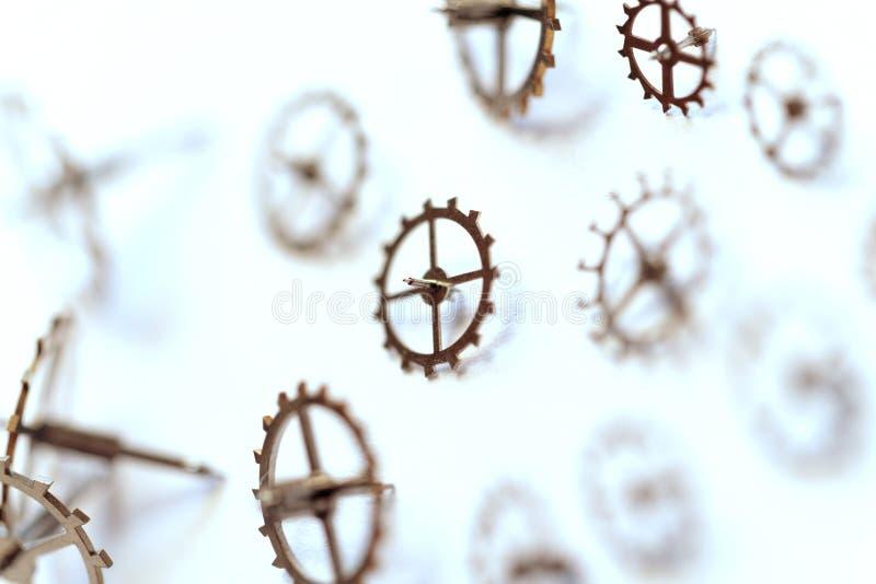 Small parts of clock stock photos