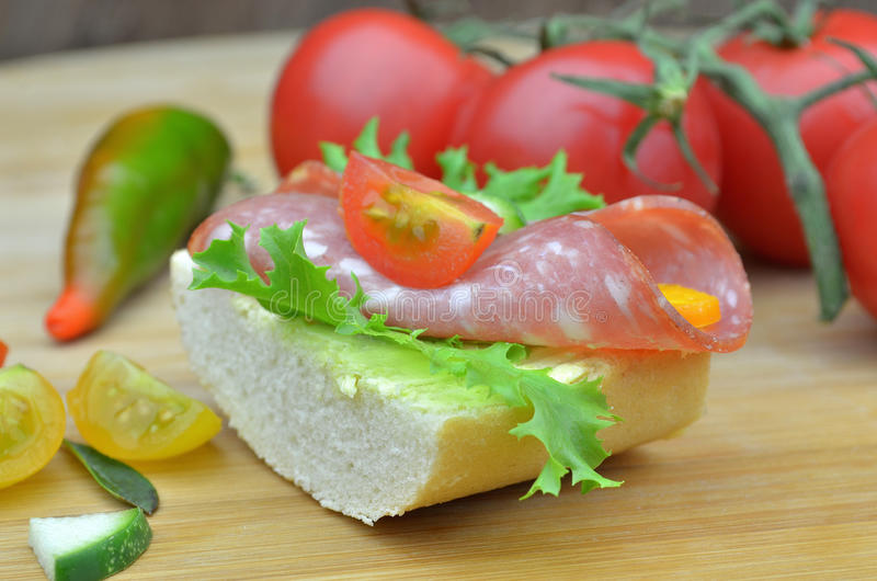 Small party sandwiches royalty free stock photography