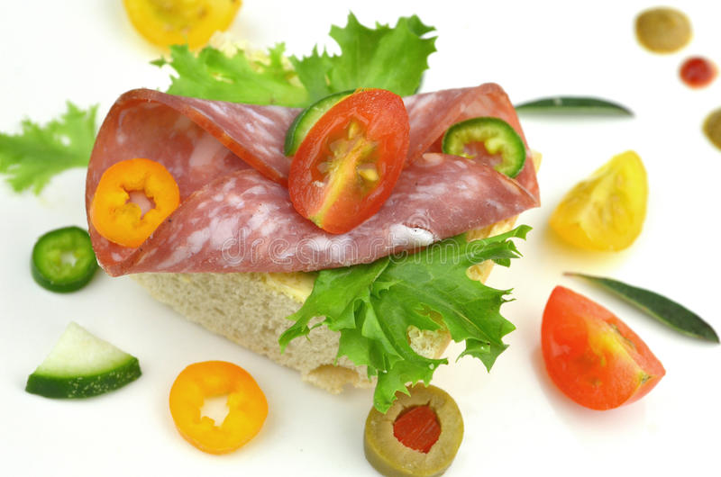 Small party sandwiches stock photography