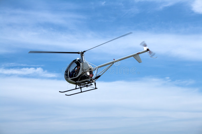 Small Passenger Helicopter Royalty Free Stock Photography