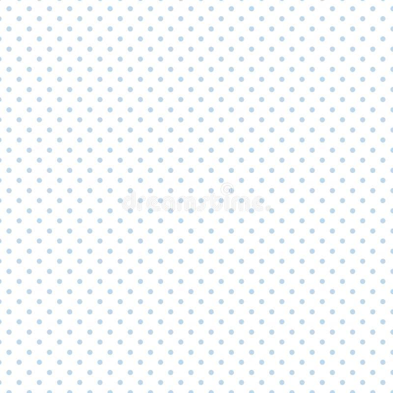 Small Pastel Blue Polka dots on White, Seamless Background royalty free illustration