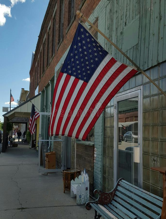 Small Patriotic Town stock images