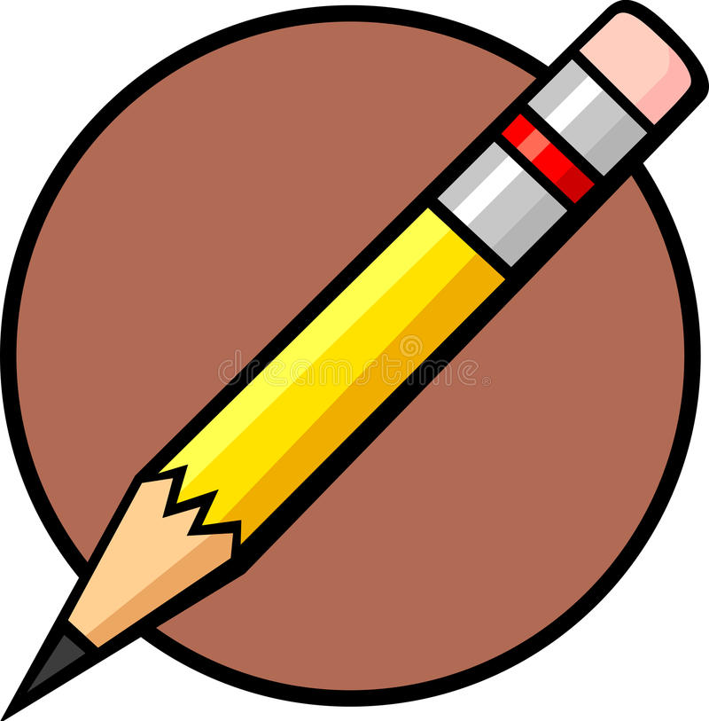 Small pencil royalty free illustration