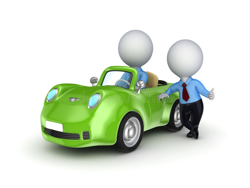 Download Small Person Selling The Car. Stock Illustration - Illustration of expensive, drive: 28860742