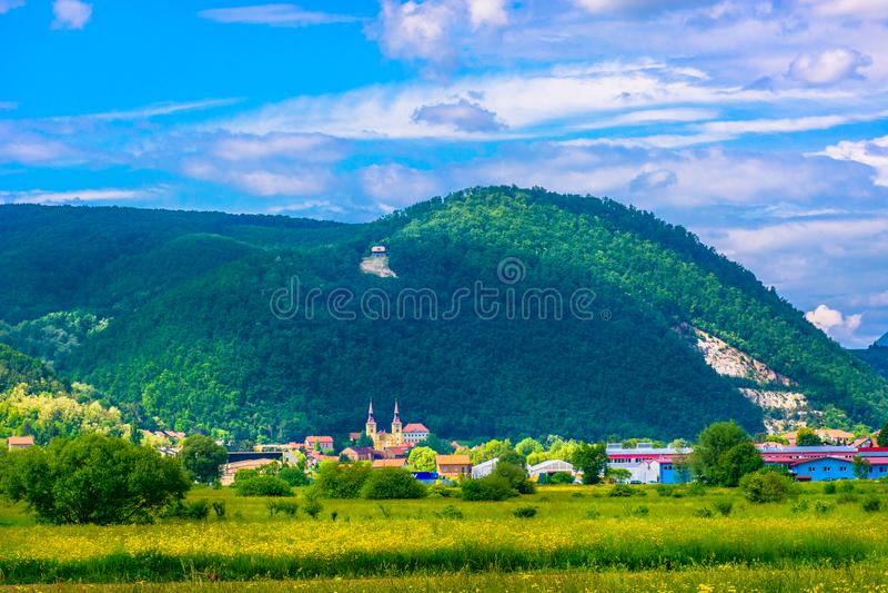 Small picturesque town in Zagorje region, Pregrada. Scenic view at small town Pregrada in Zagorje region, Croatia Europe stock image