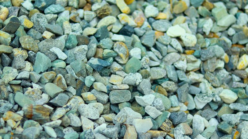 Small pieces of colorful stone. Colorful small pieces of stone royalty free stock photography