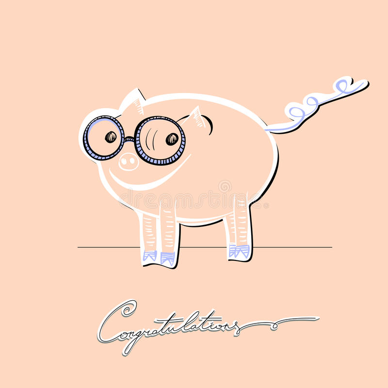 Download A small piglet stock vector. Image of little, piggy, animal - 20890936