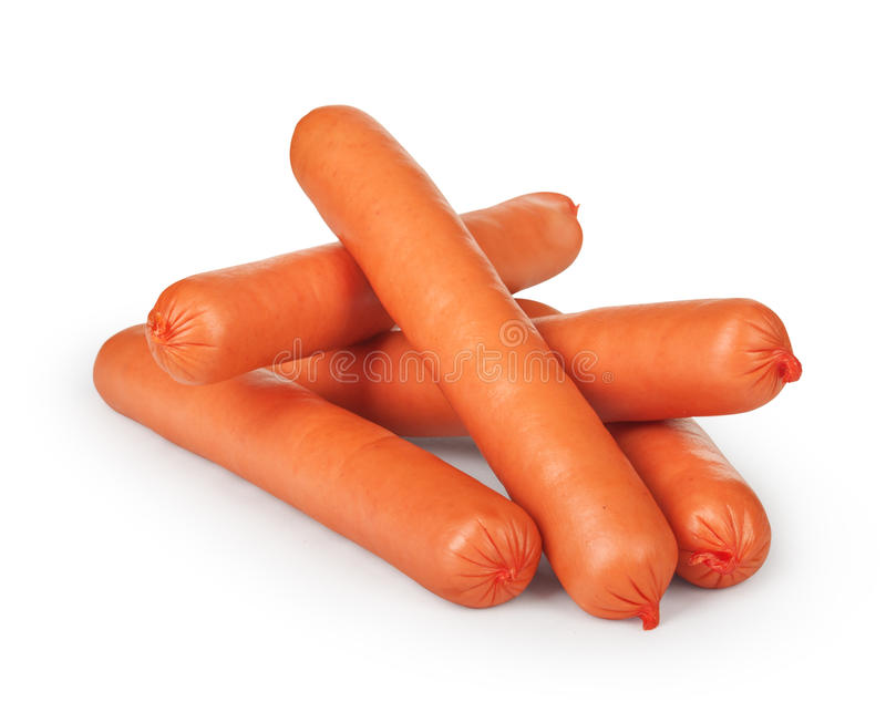 Small pile of sausages royalty free stock photos