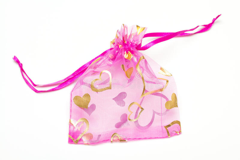 Download Small Pink Bag For Presents Stock Photo - Image: 19006434