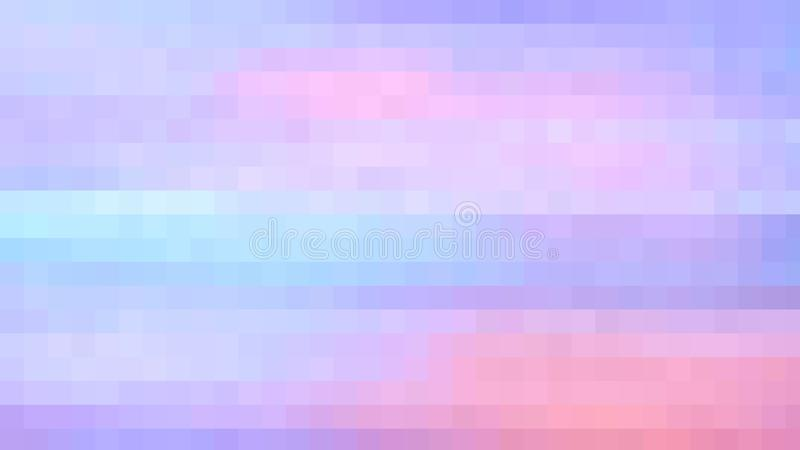 Small pink, blue and purple little squares in a  grid pattern, soft background design. Small pink blue purple little squares grid pattern solft soft background stock illustration