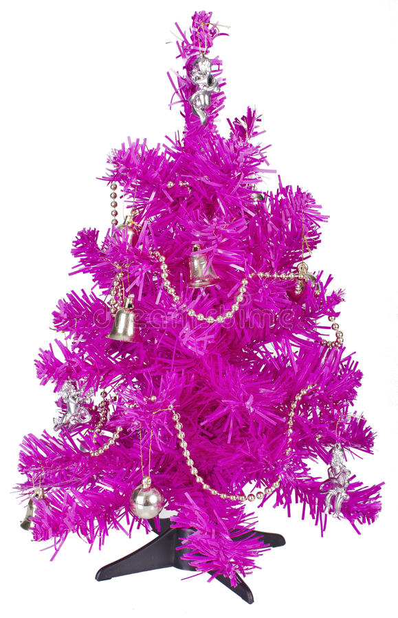 download small pink christmas tree with decorations royalty free stock photography image 35713817 - Small Pink Christmas Tree