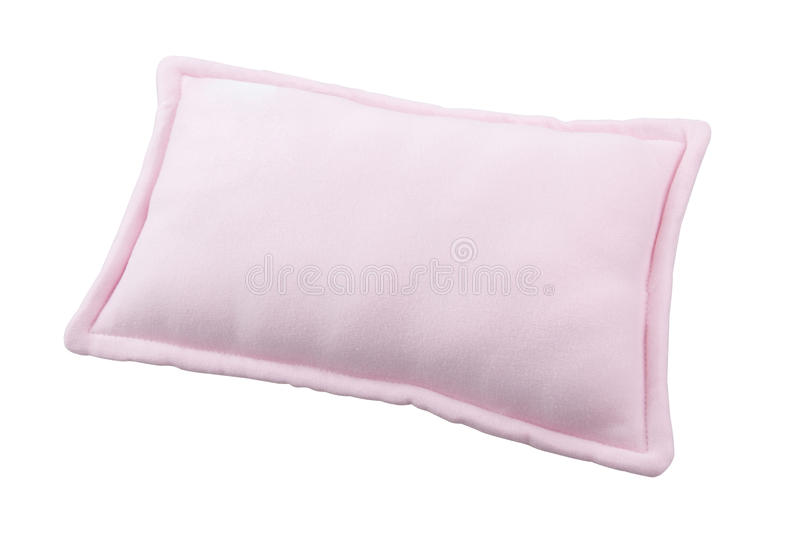Download Small pink pillow stock image. Image of detail, fleece - 27102983