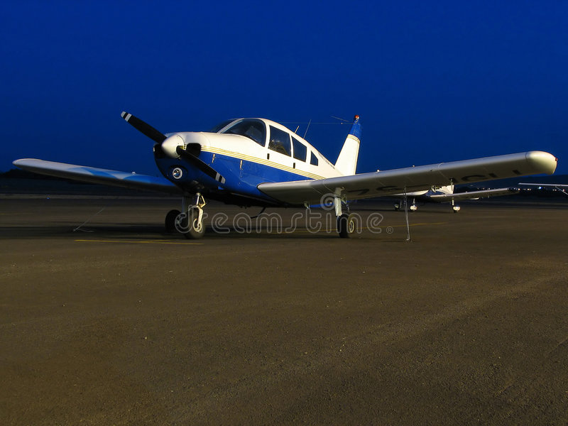Download Small Plain stock photo. Image of propeller, aviation, airstrip - 313112