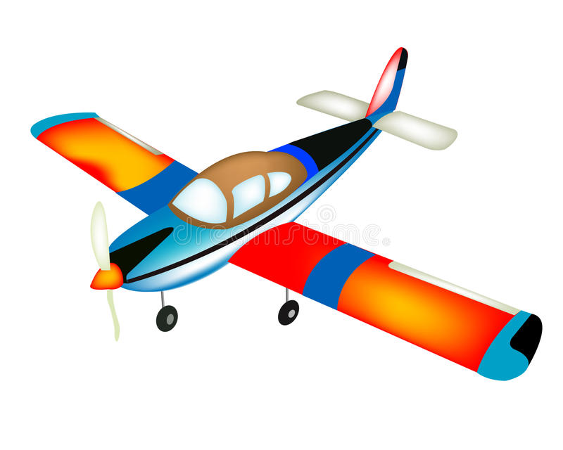 Small plane stock illustration