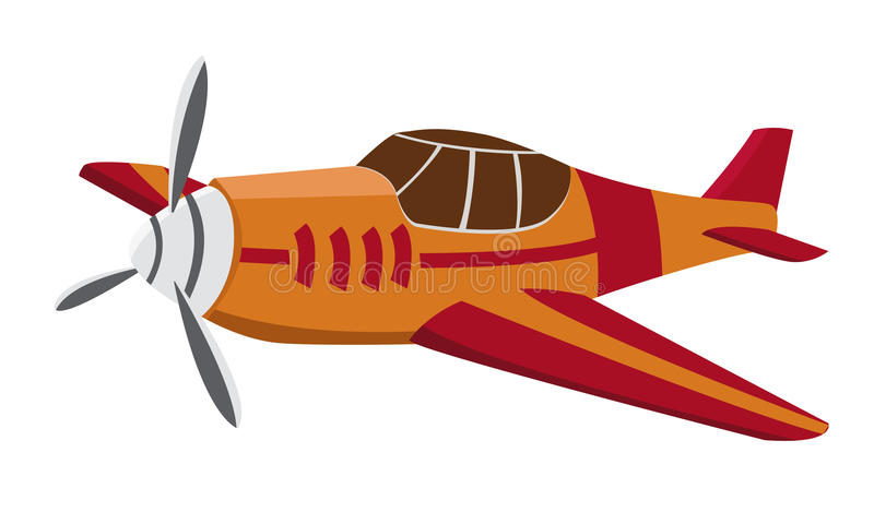 Small plane. A small plane is flying in the air vector illustration