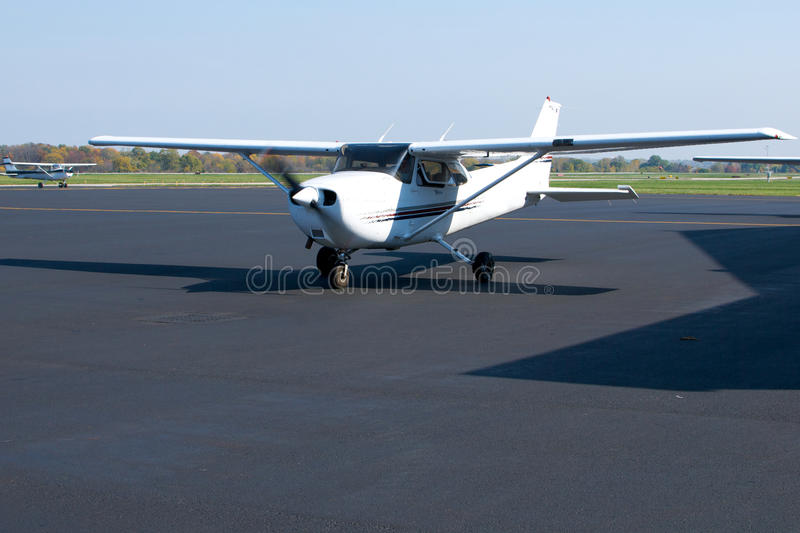 Small Plane Ready To Taxi Stock Image