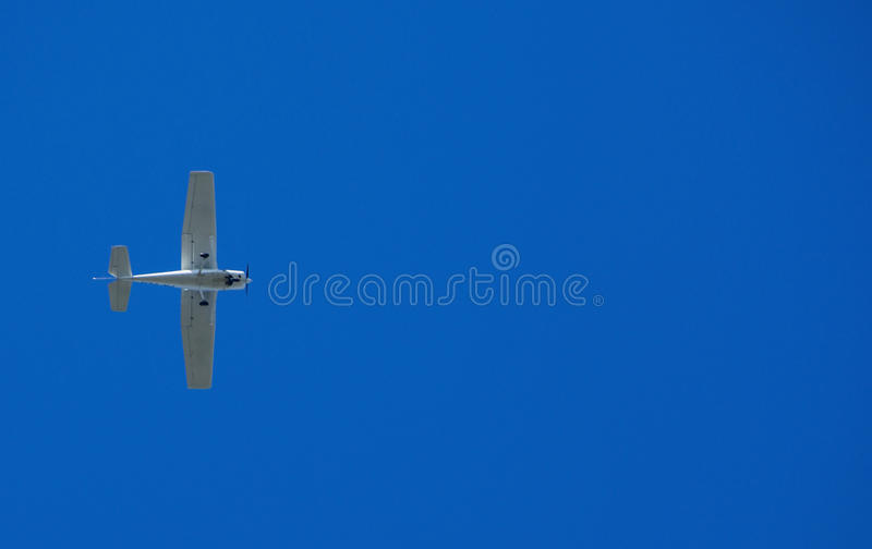 Small Plane In The Sky Stock Image