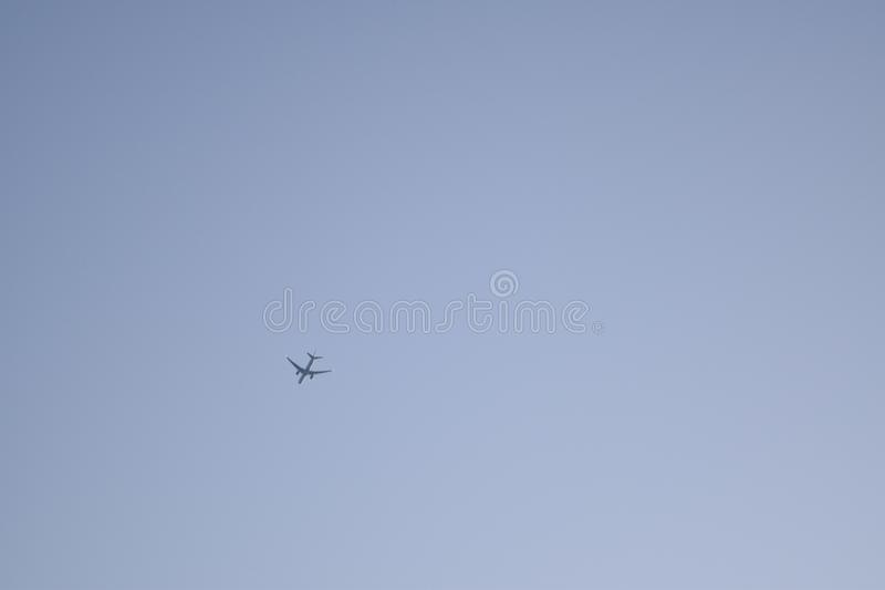The small plane in the sky royalty free stock photography