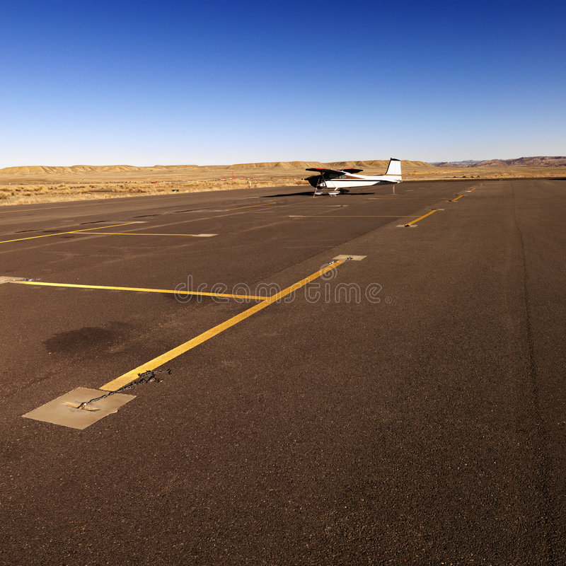 Download Small Plane On Tarmac At Airport. Stock Photo - Image: 6150314