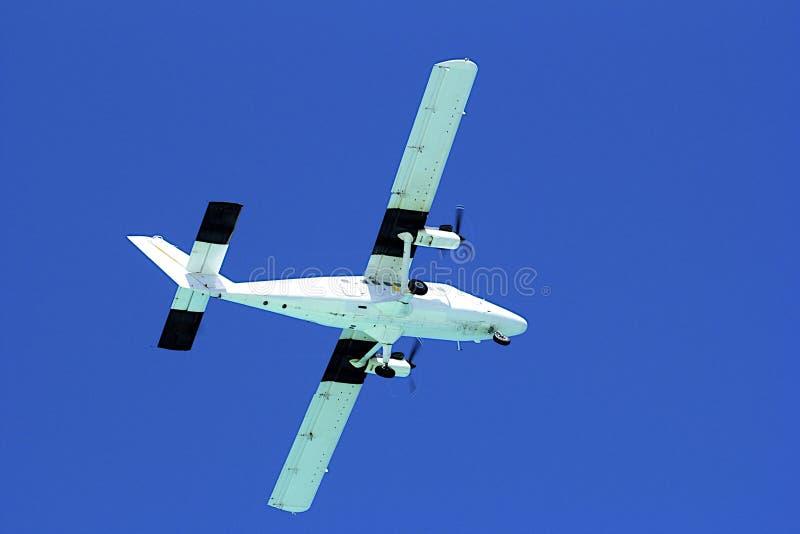 Small plane yin the sky royalty free stock photos