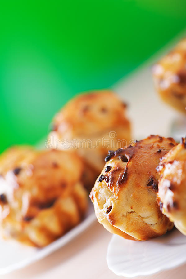 Download Small plates of muffins stock photo. Image of biscuit - 24706584
