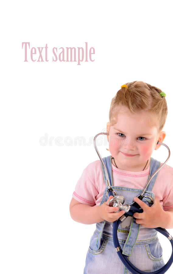 Small playful doctor stock photo