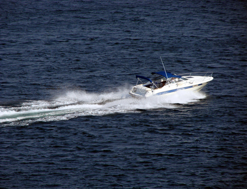 Download Small Pleasure Boat Craft Speeding On Water Stock Image - Image: 2720373