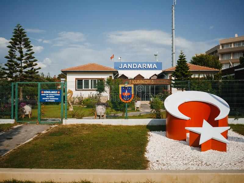 Small police station in Turkey. royalty free stock photography