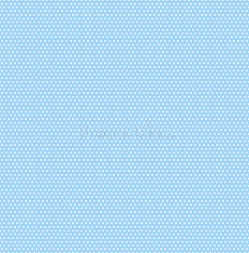 Small polka dots seamless pattern on soft blue background, vector stock illustration