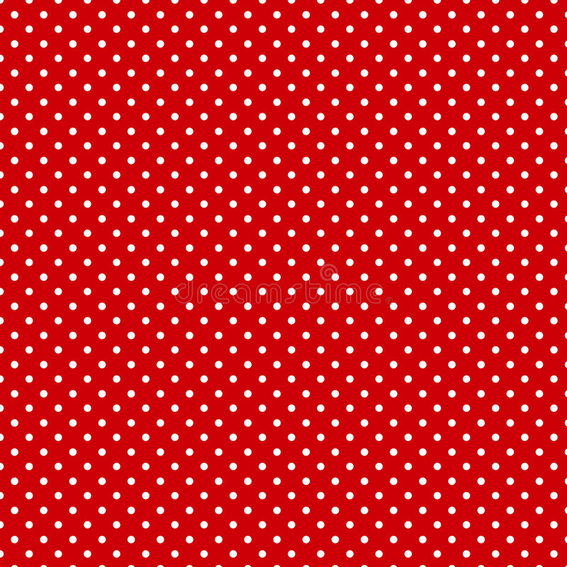 Small Polkadots, Red Background, Seamless Background stock illustration