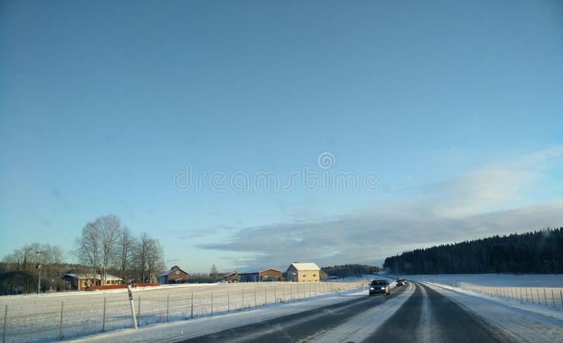 Small population centre in countryside royalty free stock photography