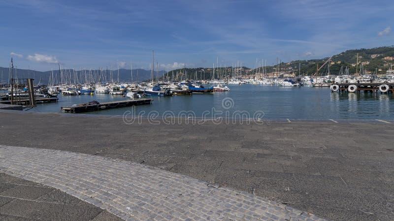 The small port of Lerici on a beautiful sunny day, La Spezia, Liguria, Italy royalty free stock image