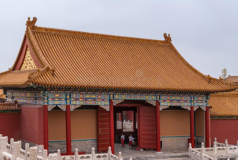 Small portal hall at Forbidden City Beijing. royalty free stock images
