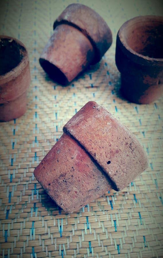 Small pots royalty free stock photography
