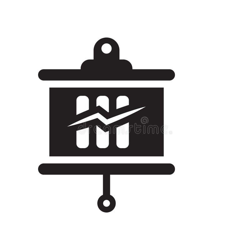 Small presentation board icon vector isolated on white background, Small presentation board sign , black symbols stock illustration