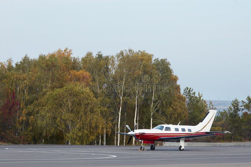 Download Small private aircraft stock photo. Image of empty, runway - 3746544